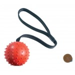 Ball and rope dog toy - 70mm
