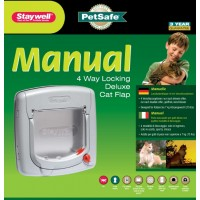 Staywell 4-way locking deluxe catflap - Grey