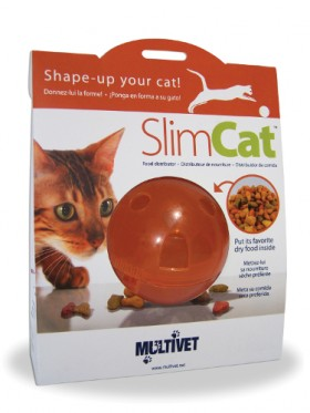 Slimcat distributeur croquettes - Orange