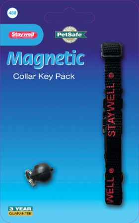 Magnetic key collar