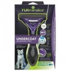 FURminator Undercoat DeShedding Tool - Long Hair Cat - Small