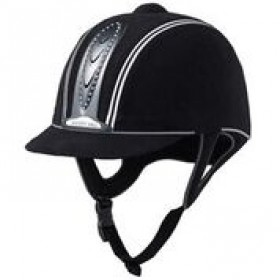 Harry Hall Riding Hat Legend Crystal Plus PAS015 Adult Black - (58cm)