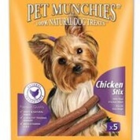 Pet Munchies Chicken Stix Natural Dog Treats - 50G