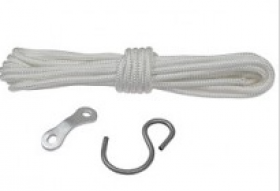 POLYESTER SUSPENSION CORD 350CM, SET WITH HOOK AND HEIGHT ADJUSTER