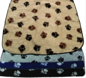 Danish Design - Fleece Paw Blanket  - Various sizes and colours